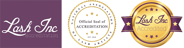 Accreditation by Lash Inc logos